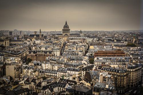 Paris Notre Dame view