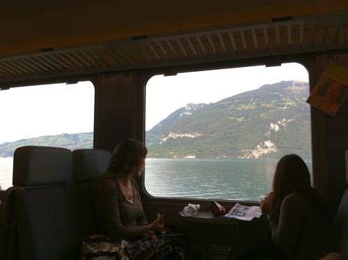View of Northern Italy from the train