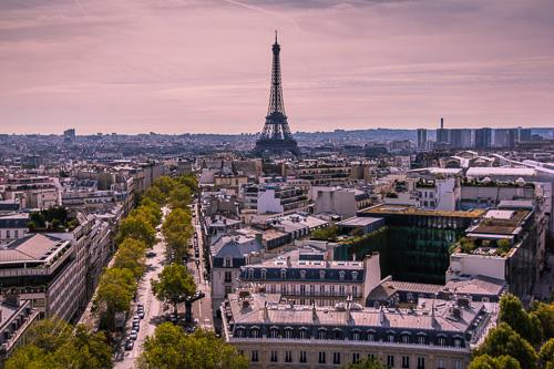 Paris Arc De Triomphe view 3