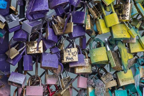 Paris Bridge Love Locks 2